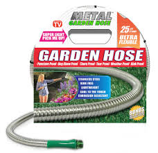cool hoses metal garden hose premium quality available in 25 50 75 100 ft