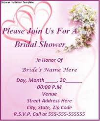 words for bridal shower invitation shower invitation template word excel pdf