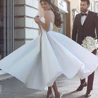 cheap ankle beach wedding dress free shipping ankle