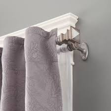 decorating gray marburn curtains with nice double curtain rod