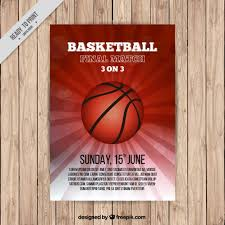 basketball brochure template vector free download