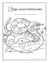 snakes to print color in rattlesnake coloring pages with