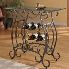 metal wine rack furniture with table for home mini bars design