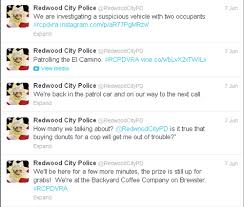 redwood city police use twitter for a ride along peninsula san