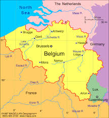 belgium in the map and belgium map major tourist attractions maps