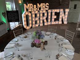 wedding backdrop letters the word is light up letters for hire