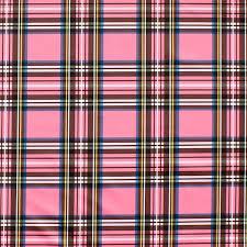 pink tartan pink plaid pul polyurethane waterproof fabric quarter fq half