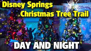 Disney Springs Map Christmas Tree Trail Day U0026 Night Disney Springs Youtube