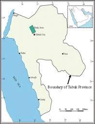 tabuk map monitoring of agricultural area trend in tabuk region saudi