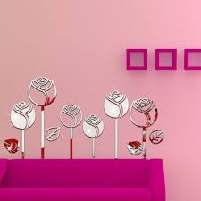 compare prices on preschool decals online shopping buy low price 2016 new 3d tulip wall mirror sticker 3d stereo diy mirror decals wall sticker for