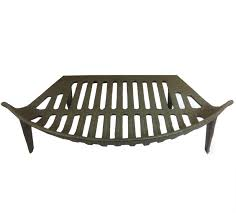 bottom fire grate stool cast iron round bow fronted open fire 16