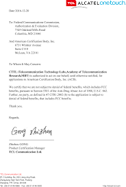 Communications Cover Letter H068 Lte Umts Gsm Mobile Phone Cover Letter Fax ä çœÿ Tcl