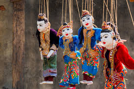 string puppet string puppet myanmar tradition dolls stock image image of