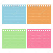 four color of lined spiral notepad papers u2014 stock vector iamnee