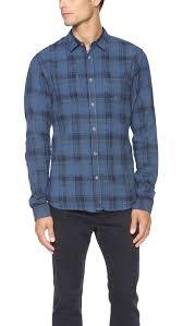 scotch u0026 soda japanese plaid work shirt in blue for men lyst