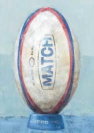 happy birthday card rugby ball design size 4 75 x 6 75 ff0480