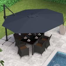 corliving deluxe offset patio umbrella multiple colors walmart com