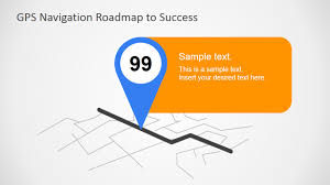 Navigation Map Gps Navigation Map Pointer Graphic Slidemodel