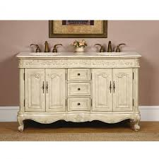 60 Inch White Vanity 60 Inch Double Sink Bathroom Vanity In Antique White