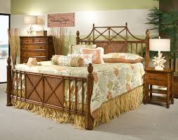 White Wicker King Size Bedroom Set Furniture Natural King Size Bed Frame With Bamboo Mattress Brand