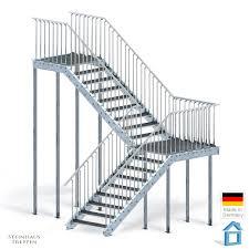 steinhaus treppen eingangstreppe lösung mit wendelung nachrüst bausatz stahltreppe