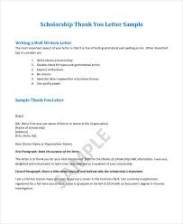 scholarship thank you letter sle 100 images ending thank you