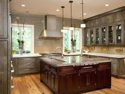 triangle kitchen island kitchen triangle rule with island shaped transitional green