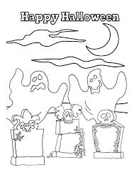 des fantômes d u0027halloween qui hantent les cimetières à colorier