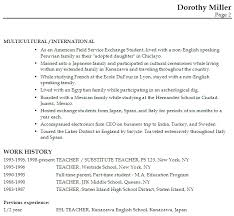 tefl resume example no experience resume ixiplay free resume samples
