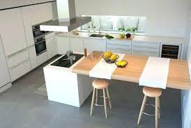 cuisine ilot table ilot de cuisine avec table cool cuisine avec table integree et