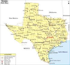 tecas map map map of cities and roads