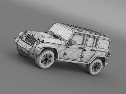 jeep drawing jeep wrangler black edition 2 2015 3d model vehicles 3d models