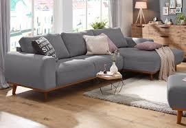 home affair sofa home affaire ecksofa gabrielle mit holzrahmen im eleganten