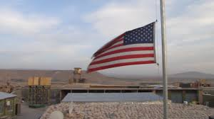 Fly Flag At Half Mast American Flag Flying At Half Mast Over Air Base In Afghanistan