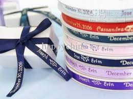 2018 personalised printed ribbon wedding decoration favor ribbon