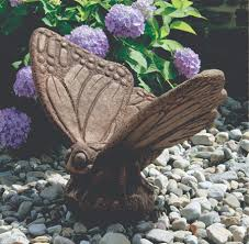 animal statue lawn ornament large butterfly statue 22in h x 26 25