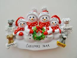 27 best personalized family of 3 ornaments images on