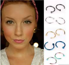 aliexpress nose rings images Nose rings gold dark blue purple green steel piercing jewelry jpg