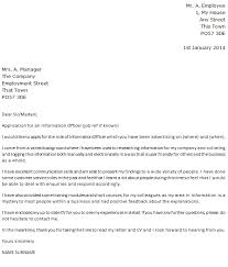 information officer cover letter example u2013 cover letters and cv