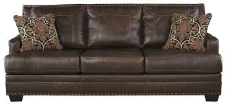 Leather Sofa Sleeper Queen by Leather Match Queen Sofa Sleeper With Memory Foam Mattress By