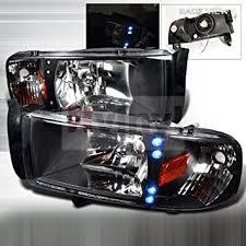 2001 dodge ram headlights amazon com spec d tuning dodge ram 1994 1995 1996 1997 1998 1999