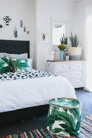 the banana leaf print works well on soft furnishings too u2013 as seen
