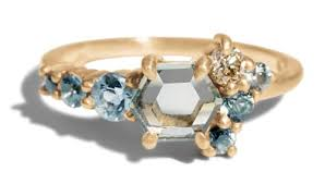 cluster rings hex sapphire cluster ring bario neal