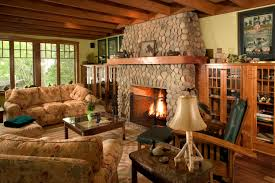 Cozy Living Room by Decorative Cozy Living Room With Stone Fireplace Mercer Island