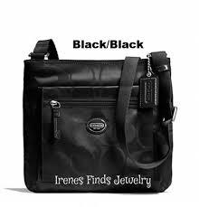 orange spice color nwt coach black or orange spice color nylon file bag tophatter