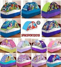 bed tent with light kids twin single size bed tent push night light lighted canopy