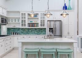 white kitchen cabinets with aqua backsplash turquoise backsplash ideas house of turquoise