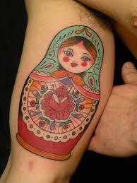 stunning tattoo of matryoshka on shoulder tattooshunter com