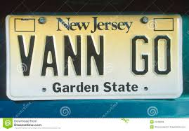 ny vanity plates license plate in new jersey editorial stock image image 23168809
