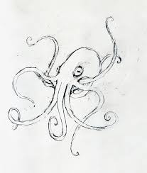 octopus drawings coloring page blog